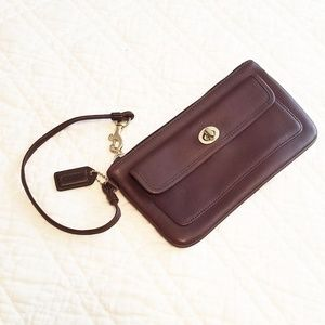 Vintage Coach leather mohagany wallet
